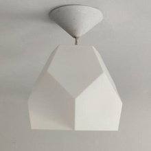 lampada paralume penta poli lampada spirale paralume diamante lowpoly luce casa interno design pla