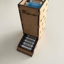 laser tagliare aaa batteria titolare supporto Taglio laser compensato organizzazione