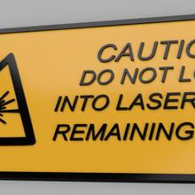 lazer uyarı işaret lazer işaret uyarı etiket kalan göz cnc co2 Dikkat Dikkat