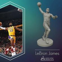 lebron James 3d remojar modelo 3d impresión escultura fútbol pelota competencia hombre liga premio deporte baloncesto lbj lebron James lakers estatua figura equipo Arte esculturas
