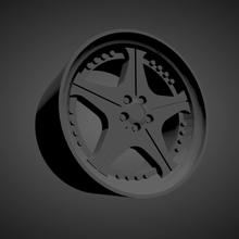 leon hardiritt orden scalable printable rims cars low poly hot wheels 1/18 1/24 1/25 1/32 1/43
