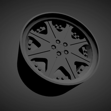 leon hardiritt waffe scalable printable rims cars low poly hot wheels 1/18 1/24 1/25 1/32 1/43
