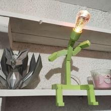 ışık ampul baş Lamba ampul adam mafsallı dekorasyon karakter aydınlatma