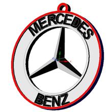 logo porte-clés divers logo clé anneau mercedes benz