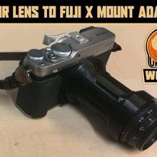 lomo belair lens fuji x mount adapter gadget camera photography lomography lomo lens adapter fuji x fujifilm fuji belair adapter