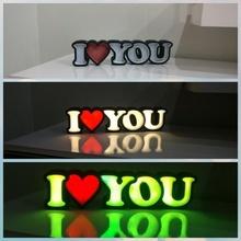l'amour l'amour LED letras luz présence copains signe dia copains Saint Valentin journée lampe LED