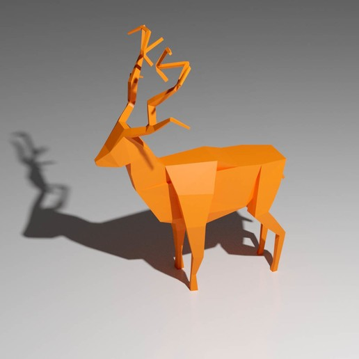 lowpoly deer various anim
