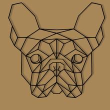 düşük poli geometrik Fransızca bulldog baş duvar dekorasyon bulldog duvar düşük poli low poly dekorasyon süslemek köpek 2d duvar heykel dekor hayvan köpek köpek 2d_art