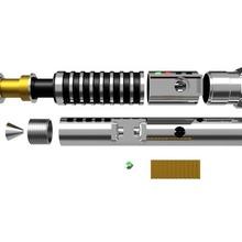 Luke gökyüzü gezgini kılıç ışık oyun star savaşlar samur lazer Darth Vader Luke gökyüzü gezgini anakin Yoda mandaloryalı bebek Led ışıklar