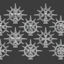 maltés cruzar hierro halos espacio marina martillo guerra 40k juego guerra primaris personaje protector hoja veteranos veteranos detalle conversión equipo espacio infantería marina hierro aureola negro templarios bt