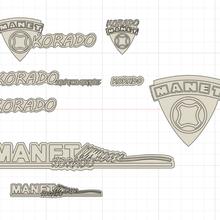 manet korado logos badges manet moped logo badge korado