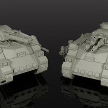 marine space tank bolter renegades 40 imperial guard warhammer miniature tank 28mm marine 30k 40k elite predator flamer lascannon