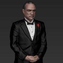 marlon brando vito corleone godfather full color 3d printing gadget celebrity hollywood figurine miniature mafia niro al pacino michael corleone