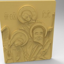 mary wisdom art 3d stl model cnc virgin jesus relief sculpture face