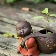 matera bebê buda 4 bebê Buda Buda bebê plantar plantas jardim casa decoração flores escritório