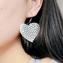 mathematical art delaunay triangulation heart shape earrings jewelry mathematical art heart earrings design