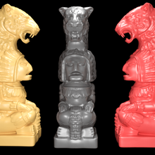 mayan statue jaguar head stl 3d print model art characters figurines historical statue table top statue mayan statue 3d print mayan statue mayan