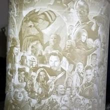 mcu movie character litho art mcu litho lithophane lamp shade