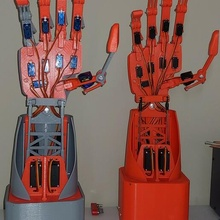 mech-a2 robotic hand arm hand 3d 13 dof robot robotic bionic mech mechanics biomechanics arduino education programmable radio control robotic arm