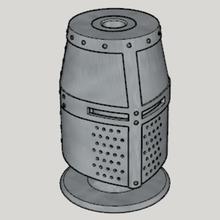 medieval great helm pen stand standard ver 1-3 size ver art ver size 1-3 ver standard stand pen helm great medieval