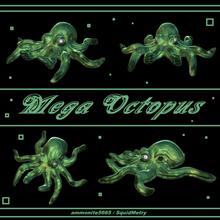 méga poulpe guerre gammer table bureau poulpe calamar céphalopode mollusque mollusque effrayant science biologie radioactif Tomber mutant kraken mer monstre animal jouet art sculpture mer vie