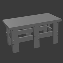 metal workbench tabletop terrain roleplay pathfinder dungeons and dragons games miniatures 28mm