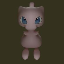 mew pokemon 3d print pokemon 3d 3d printer blender model sheet model mew mew pokemon figurines mew pokemon