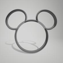 Mickey Souris Minnie Souris biscuit coupeur Minnie Mickey main chaussure court