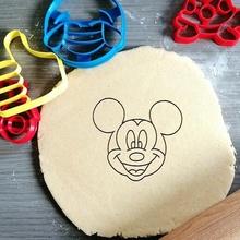 Mickey fare kurabiye kesici Mickey fare Disney animasyon kurabiye pişirme kurabiye kesici Hamur şekil mutfak pişirmek kurabiye spekülolar