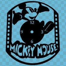 Mickey Souris regarder l'horloge horloge murale mur l'horloge 3dlito Mickey Souris disney Mickey