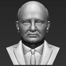 mikhail gorbaciov busto stampa 3d ready stl, obj formati art mikhail gorbaciov storia guerra fredda putin stalin lenin urss sovietica di chernobyl reagan kennedy politica poltician presidente russia
