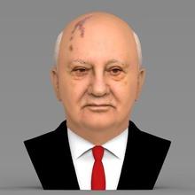 mikhail gorbaciov busto pronto full color per la stampa 3d art mikhail gorbaciov storia guerra fredda putin stalin lenin urss sovietica di chernobyl reagan kennedy politica poltician presidente russia