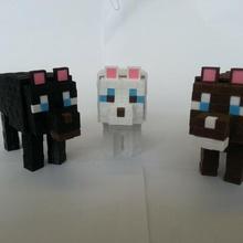 Minecraft chien Minecraft chien chiens figure bloquer