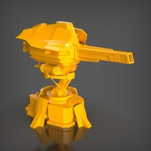 minigun bust ender decor sculpture art toy decoration statue figures animal stl creality 3dprintable pla maker game sla resin minigun games turret