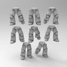 mkiii iron armor leg poses game 30k horus heresy space marines mkiii