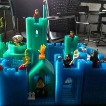 modular castillo equipo Lego compatible castillo construcción equipo Lego openscad juguete juguetes_construccion