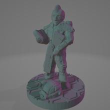 mohawk veteran scout astronaut soldier 28mm sci-fi science fiction stargrave security soldier cyberpunk trooper ttrpg