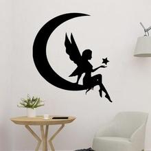 moon god angel wall art decor art moon god moon girl moon angel white angel wall art angel 2d moon art angel decor moon decoration