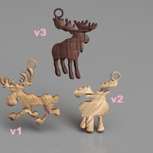 moose earring set jewelry animal earrings nord-america alaska russia norway sweden finland christmas xmas idealab pendants pendant earrings earring moose earring moose earrings moose