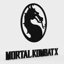 mortal kombat x logo moda brand il design modello emblema il logo mortale kombat x 3d gioco attrezzature i loghi altri pc