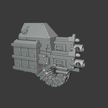 mortis twin hb dreadnought dreadnought weapons heavy bolter space marine warhammer 40k toy_game_accessories