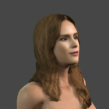 movie actress jessica alba -rigged 3d character people pbr character body game skeleton rigged beauty elegant young man boy guy person movie famous woman female actress holywood