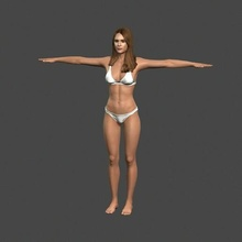 movie actress jessica alba bikini -rigged 3d character people pbr character body game skeleton rigged beauty elegant young man boy guy person movie famous woman female actress holywood