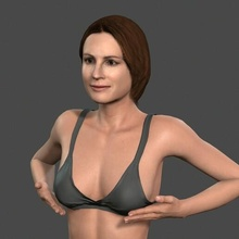 movie actress julia robert bikini -rigged 3d character people pbr character body game skeleton rigged beauty elegant young man boy guy person movie famous woman female actress holywood