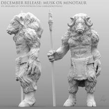 musk ox minotaur game dnd d&d miniature minotaurus musk ox minotaur musk ox minotaur creature mini tabletop dungeons dragons monster labradoritewolf