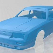 mustang gt group 1983 printable body car slot scalextric shell rc radio control body car hobby tamiya miniz mustang gt group a 1983 printable