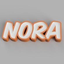 nameled nora - led lamp name led led lamp lamp led child name ornament light alphabet control gift modular glue nameled home night light nora
