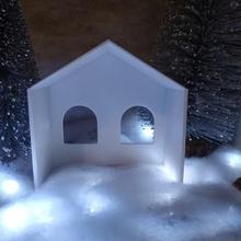 nativo de belén art de navidad la escuela de párvulos jesús casa shack mock-up