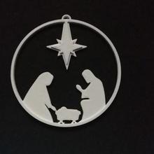 natividad escena Navidad ornamento Navidad colgar juguete natividad cuna 2020