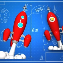 objective rocket gn-z11 rocket deco tintin art galaxy